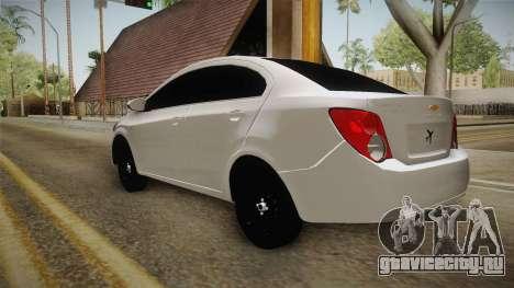 Chevrolet Sonic Beta для GTA San Andreas вид сзади слева