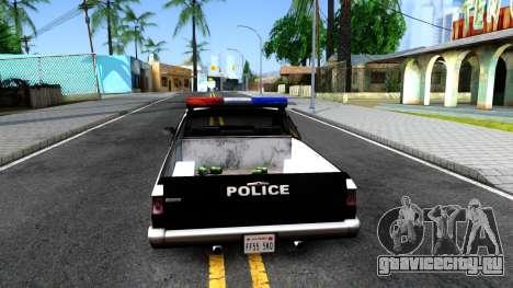 New Police Car для GTA San Andreas вид сзади слева