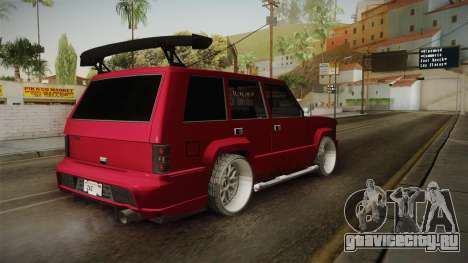 Lowered Huntley v1.0 для GTA San Andreas вид слева
