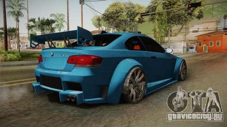 BMW M3 E92 для GTA San Andreas вид справа