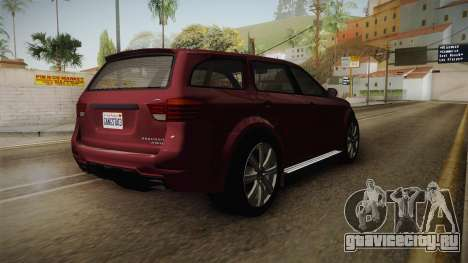 GTA 5 Bravado Gresley для GTA San Andreas вид сзади слева