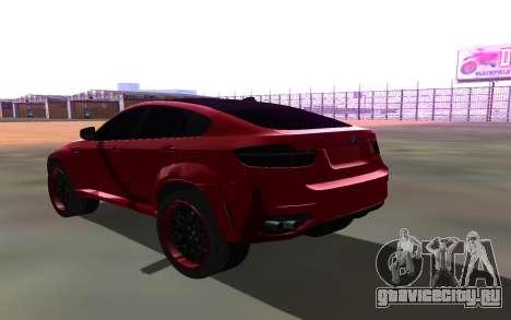 BMW X6 Lumma для GTA San Andreas вид сзади слева