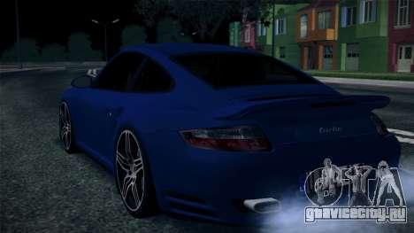 Porsche 911 Turbo 2007 для GTA San Andreas вид изнутри