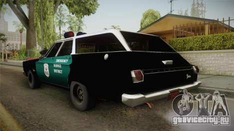 Plymouth Belvedere Station Wagon 1965 NYPD для GTA San Andreas вид слева