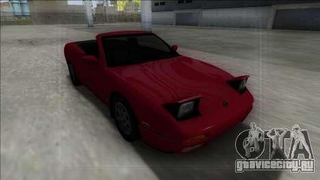 Nissan 240SX Cabrio для GTA San Andreas вид сзади