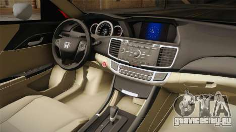 Honda Accord 2015 Cover для GTA San Andreas вид сзади