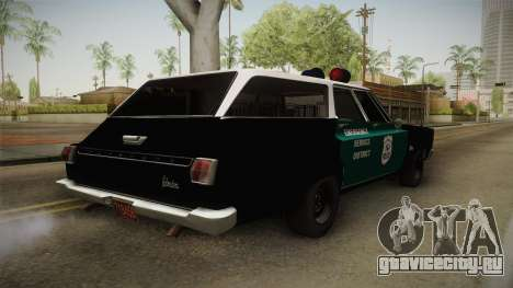 Plymouth Belvedere Station Wagon 1965 NYPD для GTA San Andreas вид сзади слева