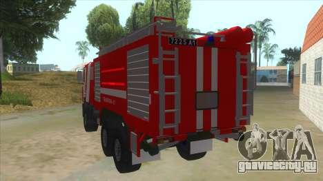 МАЗ 5440 Пожарный для GTA San Andreas вид сзади слева