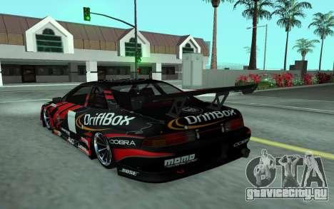 Toyota Soarer для GTA San Andreas вид сзади слева