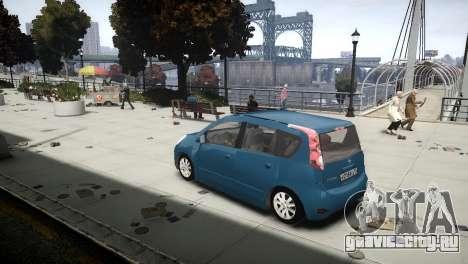 Nissan Note 2009 для GTA 4 вид слева
