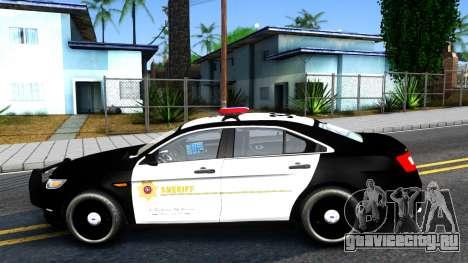 Ford Taurus LASD Interceptor для GTA San Andreas вид слева