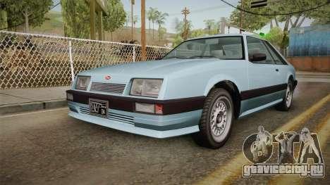 GTA 4 Uranus Cabrio для GTA San Andreas вид сзади слева