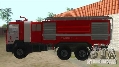 МАЗ 5440 Пожарный для GTA San Andreas вид слева