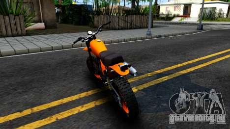 GTA V Dinka Enduro для GTA San Andreas вид сзади слева