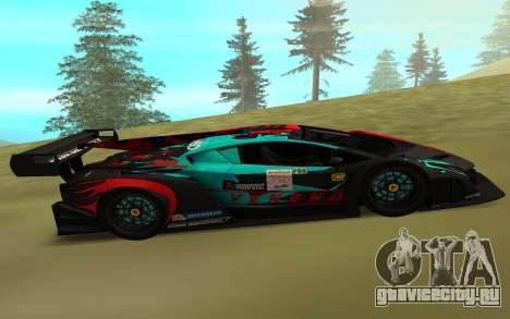 Lamborghini Veneno для GTA San Andreas вид слева