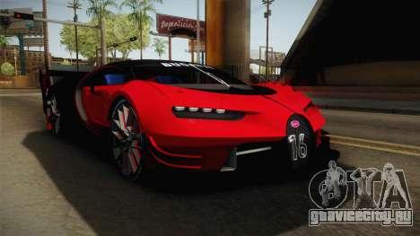 Bugatti Vision GT для GTA San Andreas вид справа
