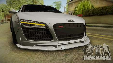 Audi R8 V10 Plus LB Performance для GTA San Andreas вид сверху