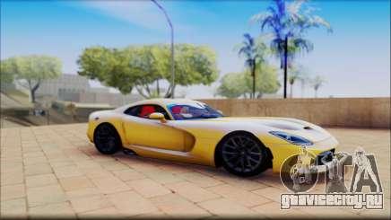 Dodge Viper жёлтый для GTA San Andreas