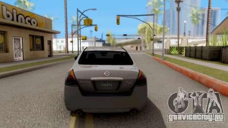 Nissan Altima 2009 для GTA San Andreas вид сзади слева