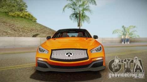 Infiniti Q50 Eau Rouge 2014 для GTA San Andreas вид сзади