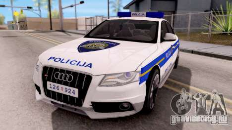 Audi S4 Croatian Police Car для GTA San Andreas
