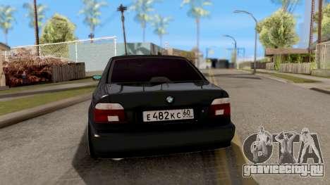 BMW M5 E39 GVR для GTA San Andreas вид сзади слева