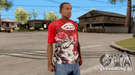 Ecko Unltd T-Shirt Red для GTA San Andreas второй скриншот