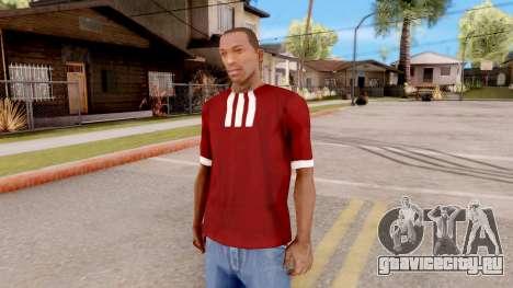 Adidas T-Shirt Red для GTA San Andreas