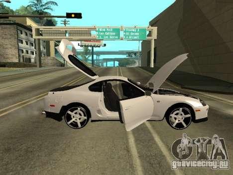 Toyota Supra Armenian для GTA San Andreas вид сзади