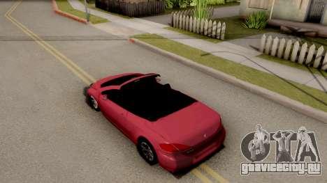 Peugeot 308 CC для GTA San Andreas вид сзади