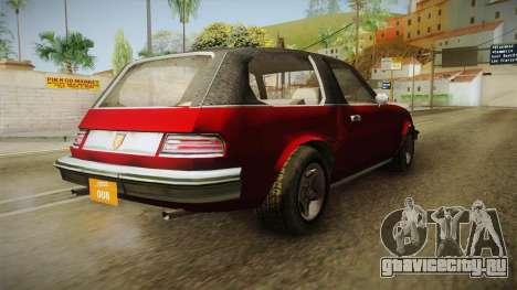 Driver: PL - Rhapsody для GTA San Andreas вид сзади слева