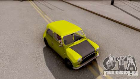 Mini Cooper 1300 Mr Bean для GTA San Andreas вид справа