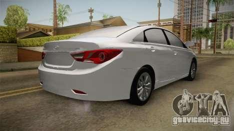 Hyundai Sonata 2013 для GTA San Andreas вид сзади слева