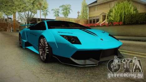 Lamborghini Murcielago LP670-4 SV Liberty Walk для GTA San Andreas вид справа