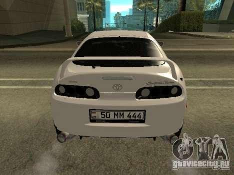 Toyota Supra Armenian для GTA San Andreas вид справа