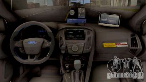 Ford Focus 3 Russisan Police для GTA San Andreas вид изнутри