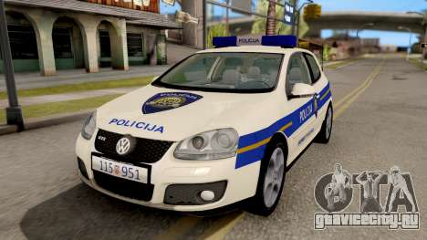 Volkswagen Golf V Croatian Police Car для GTA San Andreas