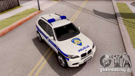 BMW X5 Croatian Police Car для GTA San Andreas вид справа