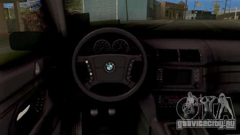 BMW M5 E39 GVR для GTA San Andreas вид изнутри
