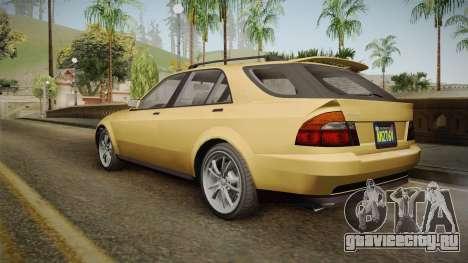 GTA 5 Karin Sultan SW IVF для GTA San Andreas вид слева