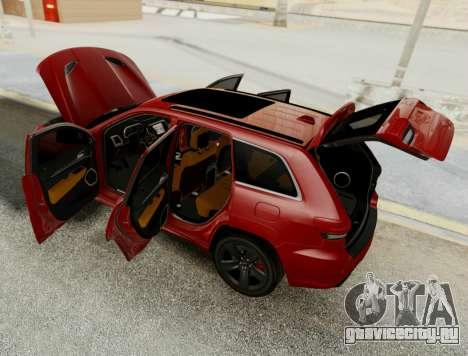 Jeep Grand Cherokee SRT 8 для GTA San Andreas вид изнутри