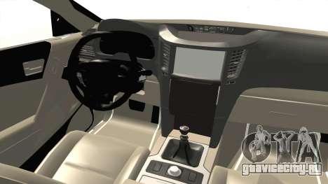 Hyundai Sonata 2013 для GTA San Andreas вид изнутри