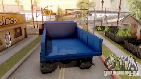 Paintable Dumper для GTA San Andreas вид сзади слева