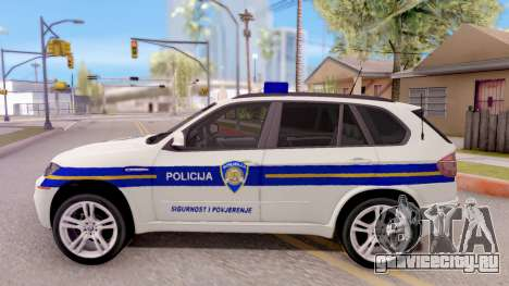 BMW X5 Croatian Police Car для GTA San Andreas вид слева