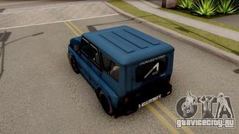 УАЗ Hunter V8 Антигелик AcademeG для GTA San Andreas вид сзади