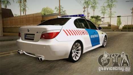 BMW M5 E60 Hungary Police для GTA San Andreas вид слева