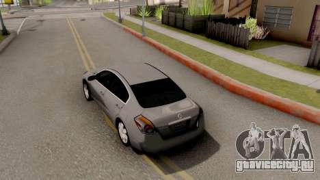 Nissan Altima 2009 для GTA San Andreas вид сзади