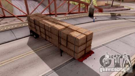 FlatBed Trailer From American Truck Simulator для GTA San Andreas вид сзади слева