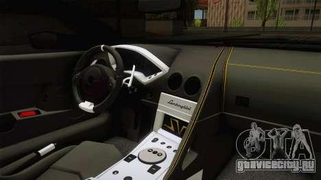 Lamborghini Murcielago LP670-4 SV Liberty Walk для GTA San Andreas вид изнутри