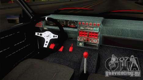 Dacia 1310 Berila Low для GTA San Andreas вид изнутри
